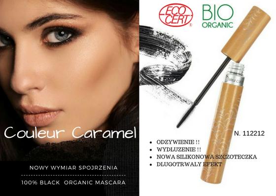 Nowość !! Naturalna Mascara (12) BIO Backstage Couleur Caramel