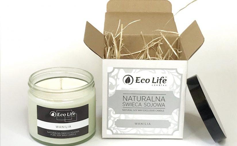 Naturalne świece sojowe zapachowe i do masażu Eco Life Candles